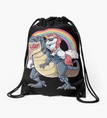 Einhorn Reiten Dinosaurier T Shirt Rex Lustige Einhörner Party Rainbow Squad Geschenke für Kinder Jungen Mädchen Turnbeutel