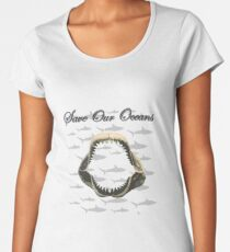 Shark Jaw - Save Our Oceans Women's Premium T-Shirt