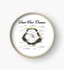 Shark Jaw - Save Our Oceans Clock