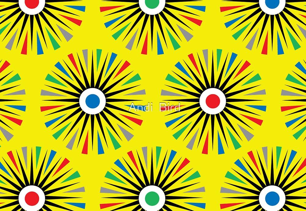 Geoflowers - card  by Andi Bird