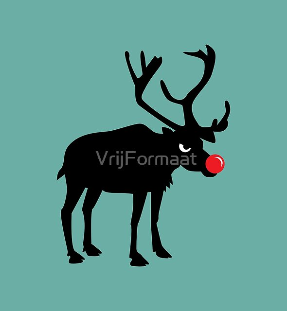 Angry Animals: Rudolph the red nosed Reindeer by VrijFormaat