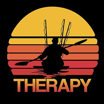 Kayak Fishing Angling Design - Therapy by kudostees