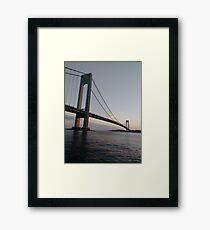 New York, New York City, Brooklyn, #NewYork, #NewYorkCity, #Brooklyn, Verrazano-Narrows Bridge, #VerrazanoNarrowsBridge, #VerrazanoBridge, #bridge, #Verrazano, #Narrows Framed Print