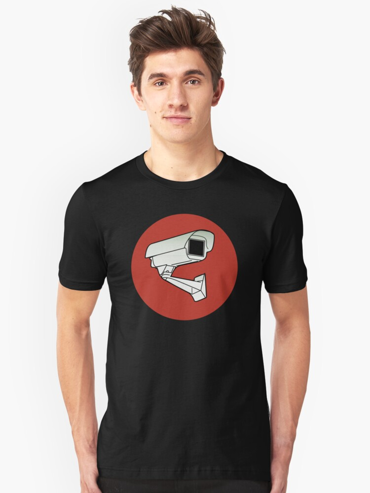 Security Camera Unisex T-Shirt Front