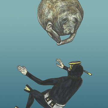 The Diver and the Manatee by SerenSketches