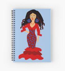 Flamenco girl Spiral Notebook