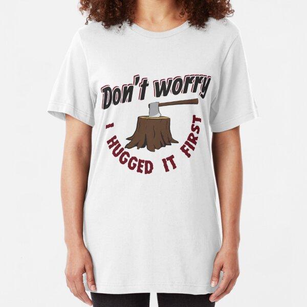 T-shirt Leg ne jamais te avec un couvreur à Bois Cadeau artisanat professionnelle