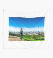 View of London from the Greenwich Observatory Wall Tapestry