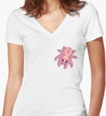 Kawaii Spiders Women's Fitted V-Neck T-Shirt