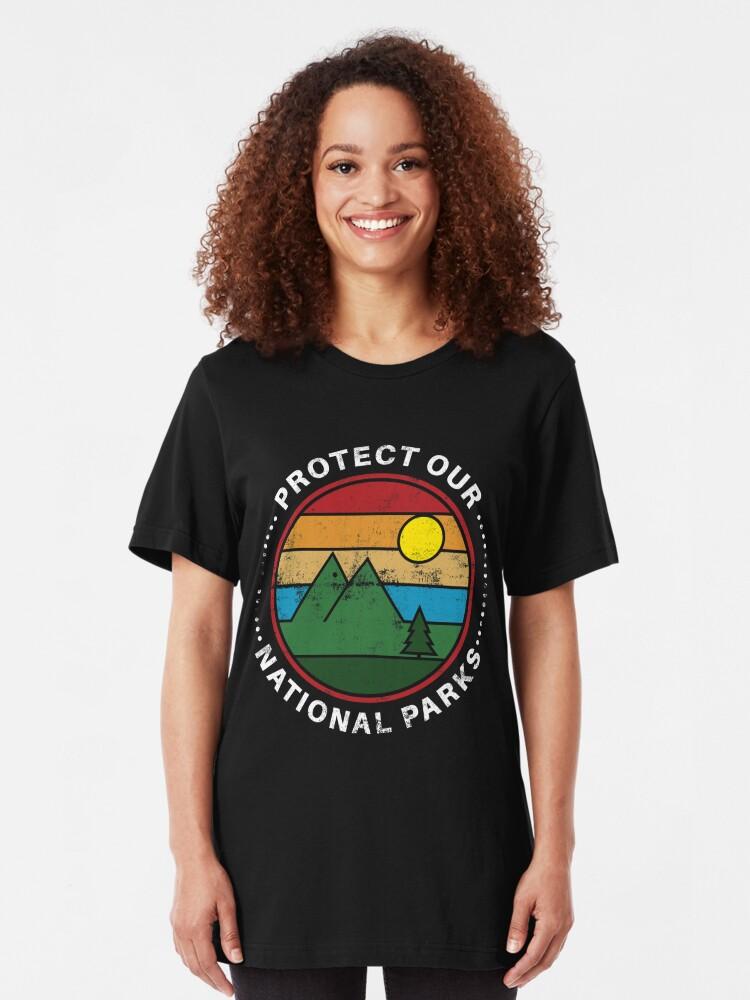 Alternative Ansicht von Protect Our National Parks - National Parks Gift Slim Fit T-Shirt