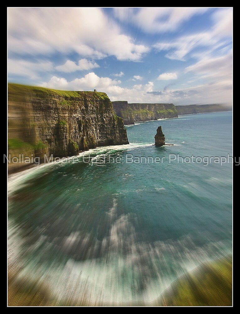 zoom cliffs of moher, county clare, ireland by Noel Moore Up The Banner Photography