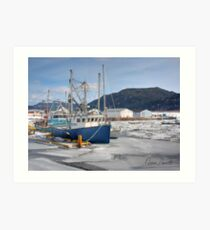 Boats at Little Port Harmon Art Print