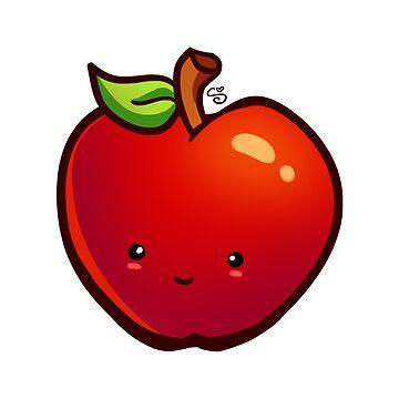Kawaii Apple by shellz-art