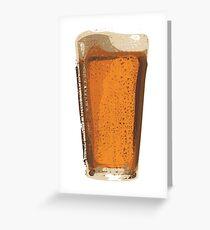 Pint of Beer, Beer Art, Brewing, Bar Art, Pub Greeting Card