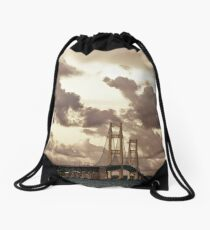 Mackinac Bridge Drawstring Bag