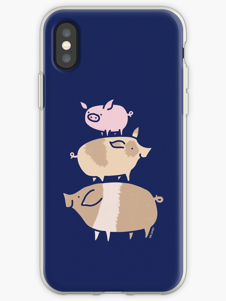 Three Cute Pigs ( dark background ) by zoel