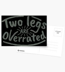 Two Legs Are Overrated - Amputee Gift Postkarten