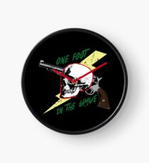 One Foot In the Grave Skull Clock