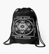 Metatron's Cube - White Drawstring Bag