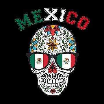 Hipster Mexico Sugar Skull  by goodspy