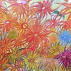 Flower Dream.  By Dr.Andrzej Goszcz. 27.07.2018. Acrylic painting. by © Andrzej Goszcz,M.D. Ph.D