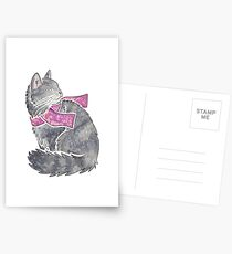 Watercolour Norwegian Forest Cat Postcards
