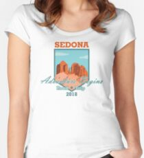 Sedona Adventure Begins Fitted Scoop T-Shirt
