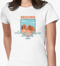 Sedona Adventure Begins Fitted T-Shirt