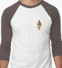 Twist Ice Cream Cone - Vanilla and Chocolate Soft Serve Men's Baseball ¾ T-Shirt