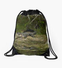 Cypress Alligator Drawstring Bag