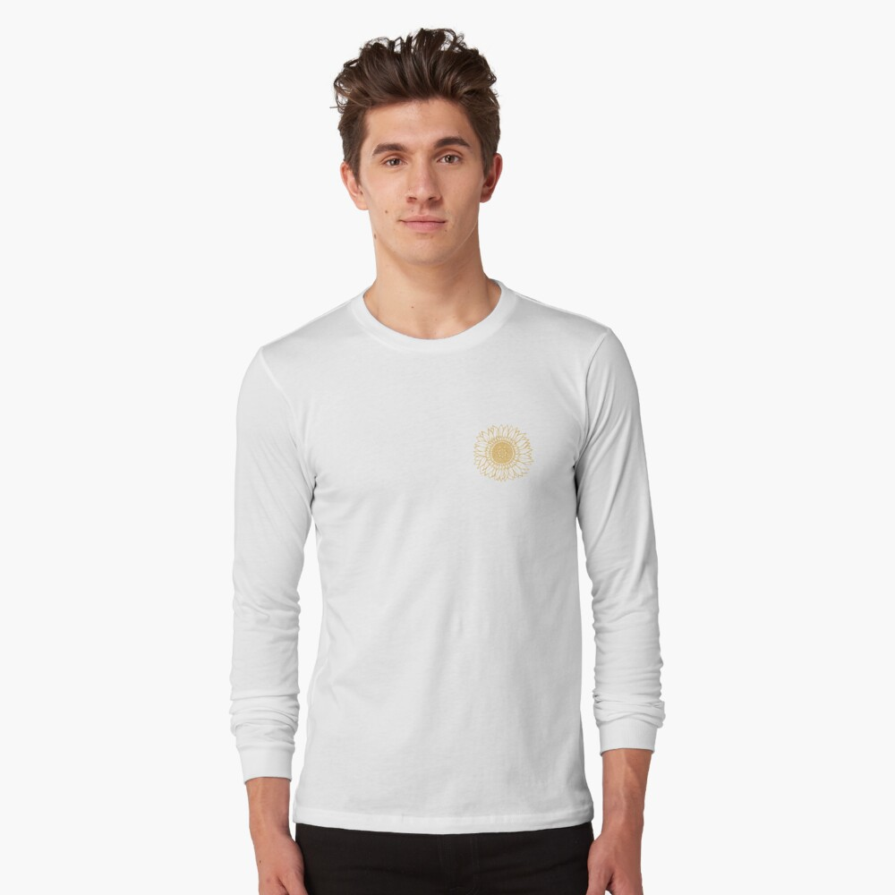 Yellow Flower Drawing Tapestry Long Sleeve T-Shirt