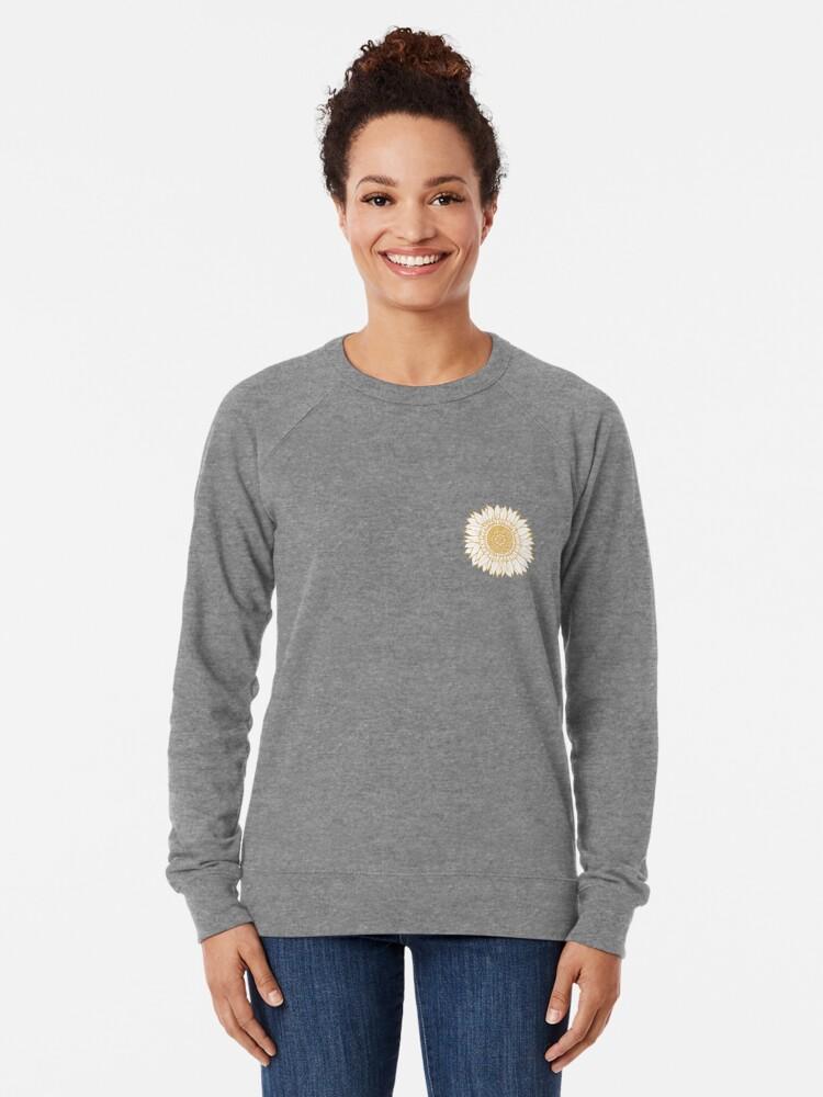 Alternate view of Yellow Flower Drawing Tapestry Lightweight Sweatshirt
