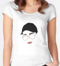Rückblende Mary Tailliertes Rundhals-Shirt