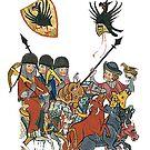 Medieval knights..depiction of Ulrich von Buwenburg, circa 1260 by edsimoneit