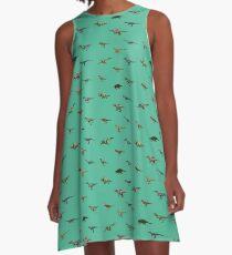 90´s cartoon Dinosaur pattern 2.  A-Line Dress