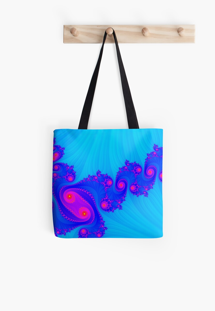 Blue and Pink Fractal Swirls by csegalas