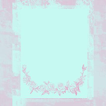 Vintage Sour Flower Frame by lollylocket