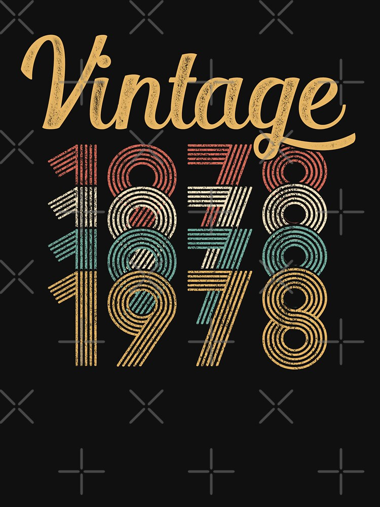 Vintage 1978 - 40th Birthday by funny-gift