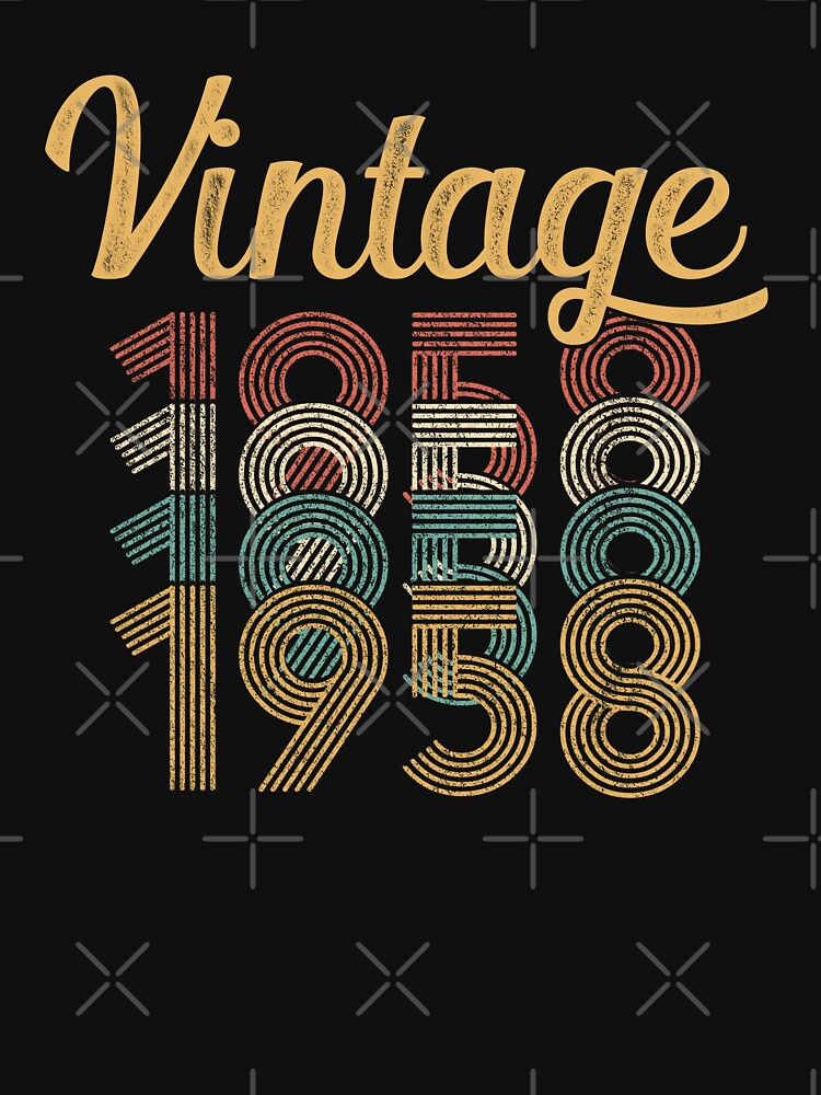 Vintage 1958 - 60th Birthday by funny-gift