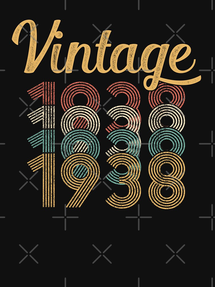 Vintage 1938 - 80th Birthday by funny-gift