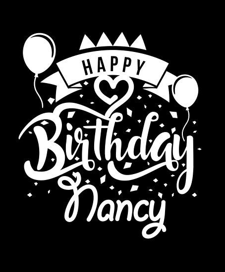 happy birthday nancy posters by elhefe redbubble