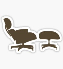 Eames Lounge Chair and Ottoman Sticker