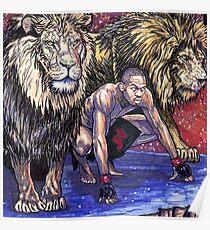 Jon Jones Lion Pack Leader Ufc Fighter Art Poster