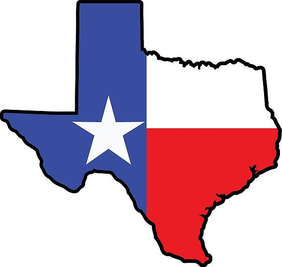 Quot Texas Flag Texas Shape Quot Poster By Richdelux Redbubble