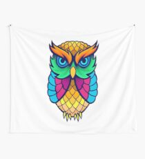 Owl Cute Owl funny cool owl Wall Tapestry
