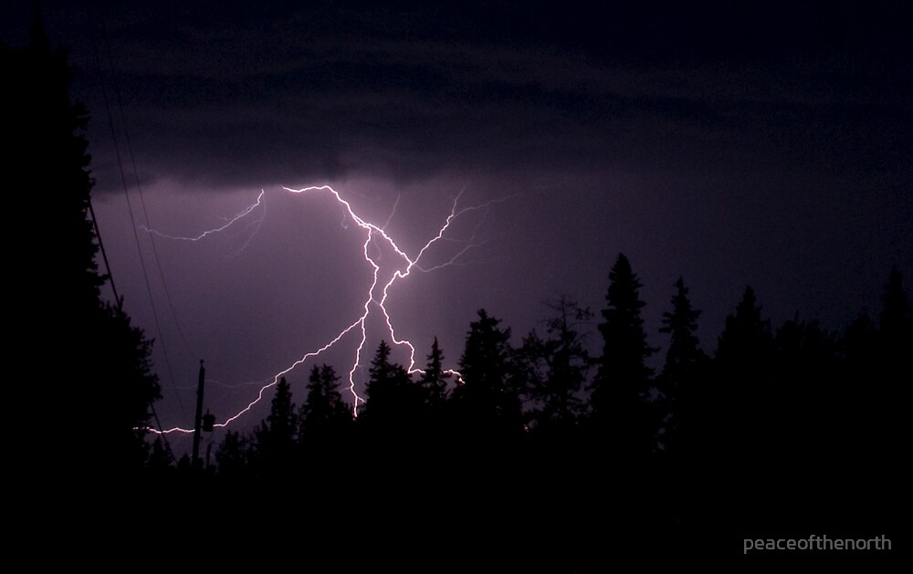 Aug1st/09 Lightning Storm by peaceofthenorth