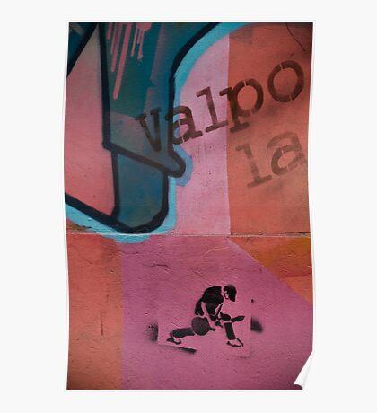 Chile Graffiti  Poster