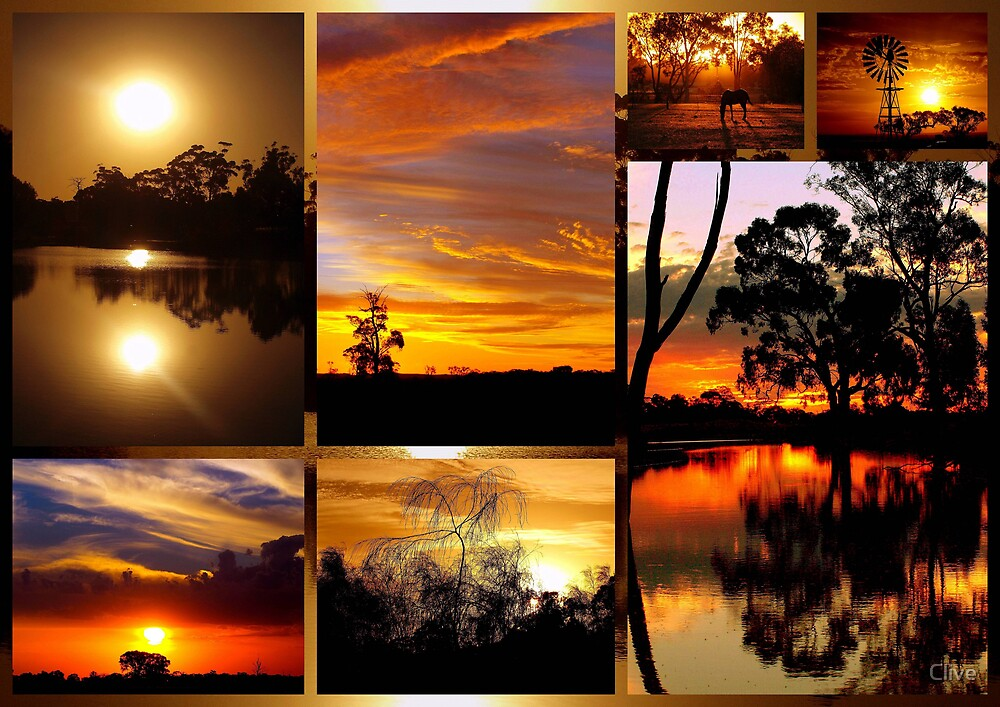 Quot Sunset Collage Quot By Clive Redbubble