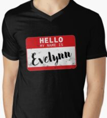 Hello My Name Is Evelynn Name Tag Men's V-Neck T-Shirt