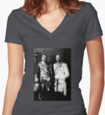 Tsar Nicholas II and King George V - Royal Cousins - 1913 Women's Fitted V-Neck T-Shirt